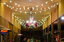horse barn-interior-string lighting-cafe lighting-party