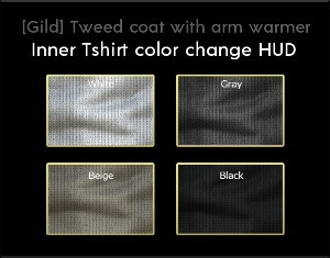 About HUD for tweed coat inner shirt