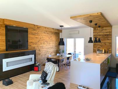 Retombée plafond et lambris