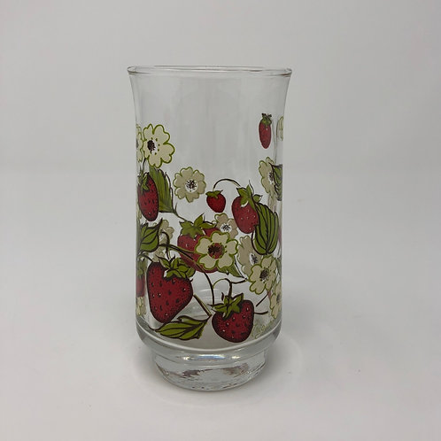 Vintage Strawberry Triguba Glass