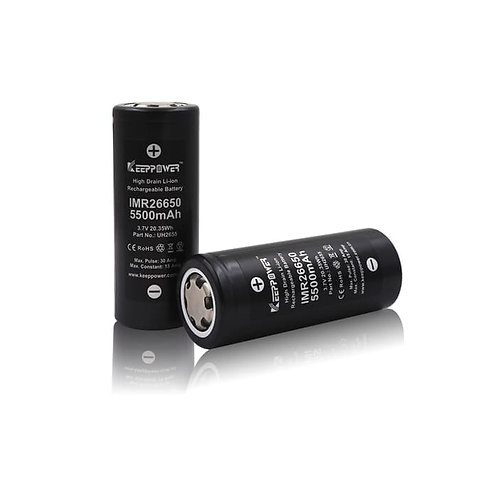 Batteria 26650 Li-ion 5500mAh Ricaricabile