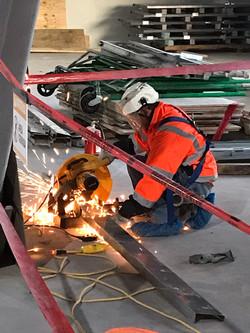 Cutting steel stud