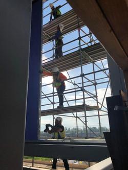 interior shot on scaffold