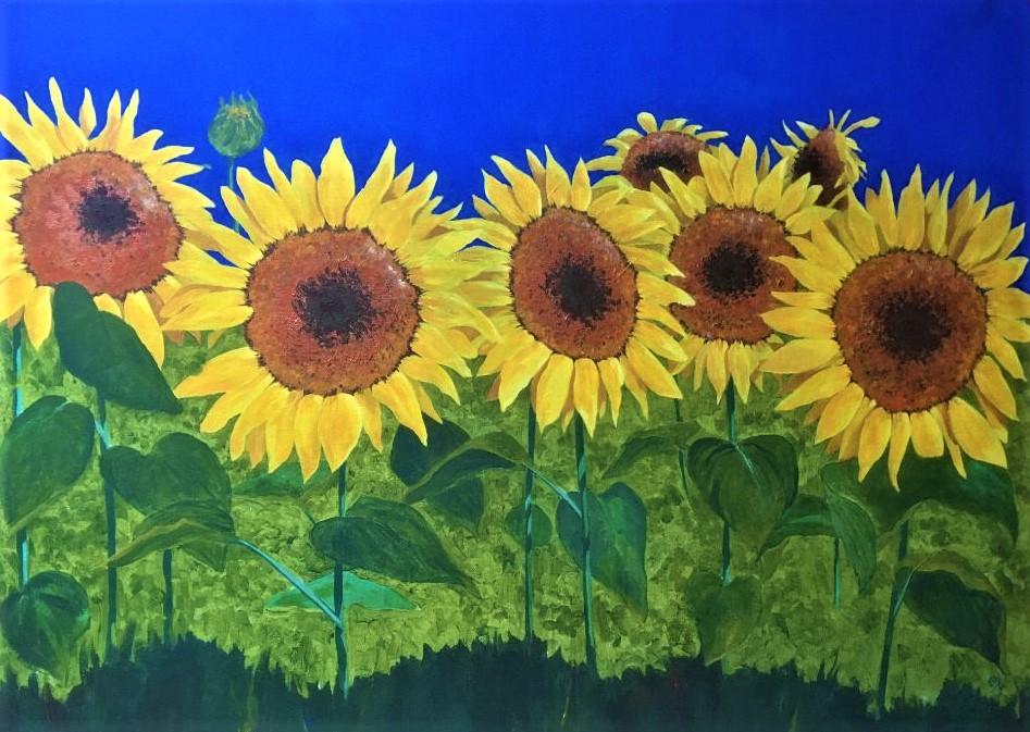 Sunflowers 36x24 acrylic