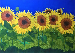 Sunflowers 36x24 acrylic