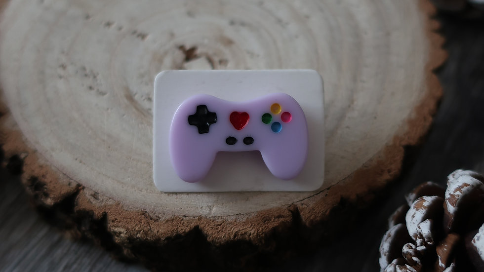 Gift Boxed - Kawaii Games Console Controller Pin Badge  - Purple