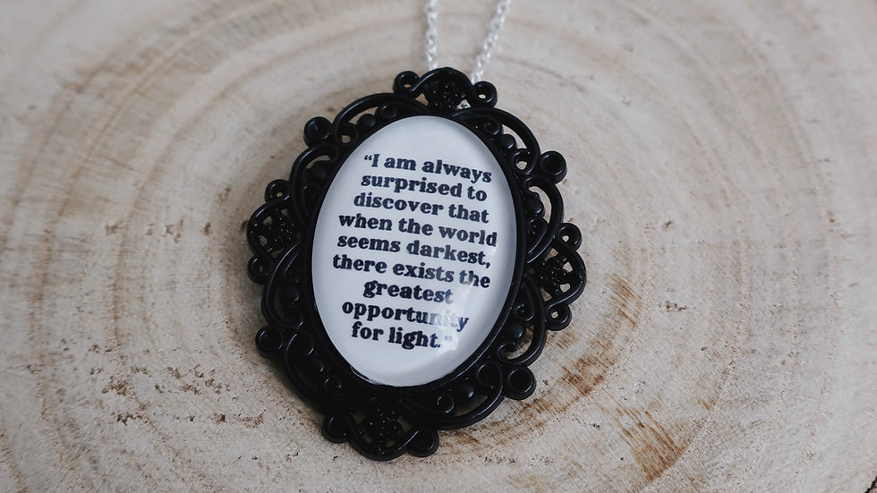 """""""I am always surprised to discover..."""" A Curse So Dark and Lonely Necklace"""
