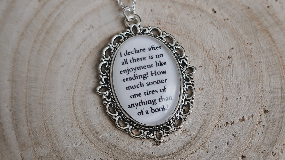 """I declare after all there..."" Jane Austen Inspired Book Quote Necklace"