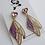 Thumbnail: Fairy Wing Glittered Drop Earrings