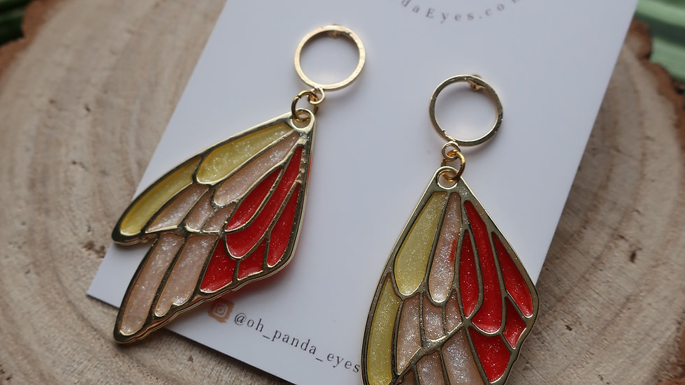 Prince Cornelius Inspired Fairy Wing Drop Earrings - Thumbelina