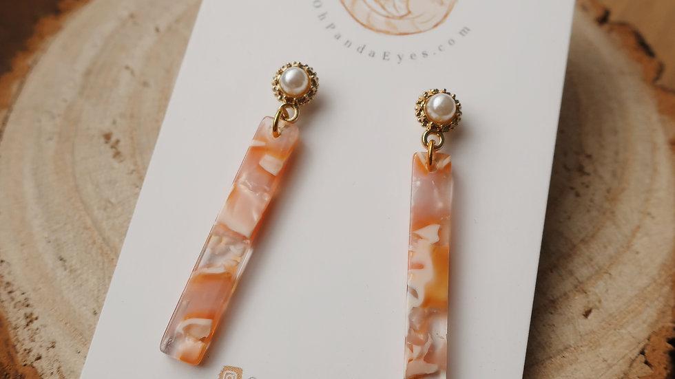 'The Classic' Resin & Pearl Drop Earrings