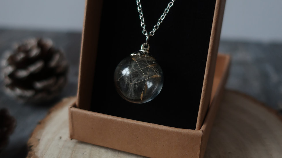 Dandelion Wisp 'Wish' Vial Necklace