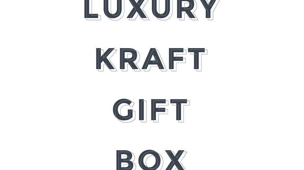 Luxury Kraft Gift Box - Black Velvet Insert (Add on)