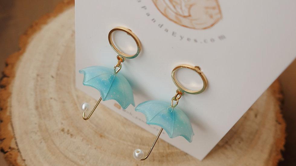'Rainy Day' Cute Umbrella Drop Earrings