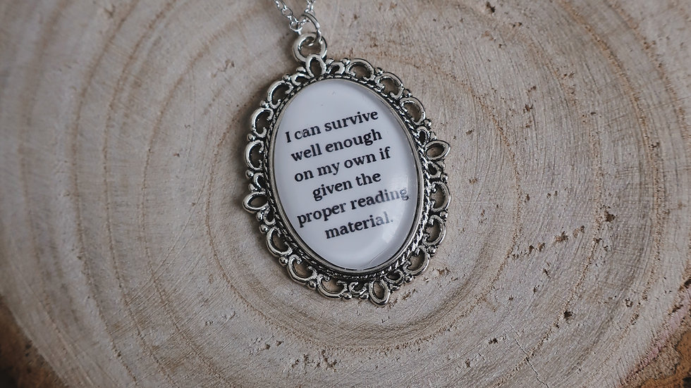 """""""I can survive well enough on my own..."""" Throne of Glass Book Inspired Necklace"""