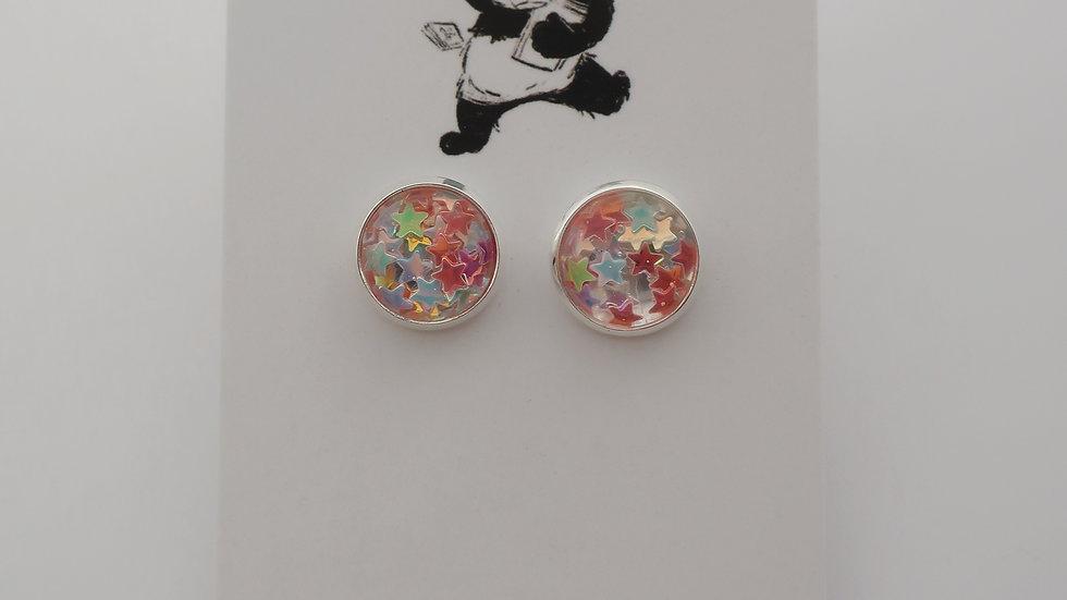 Starstruck Multicolour Resin Stud Earrings