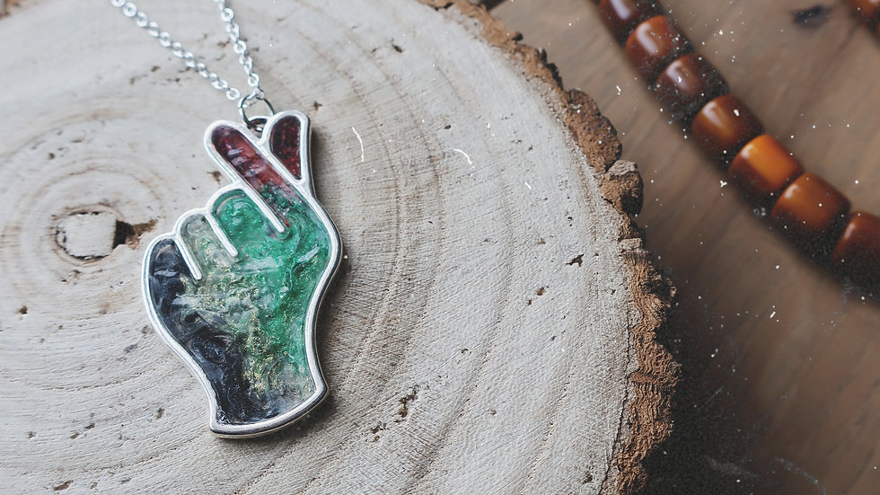 Hand of Palestine Pendant Necklace or Keyring - 100% of sales being donated