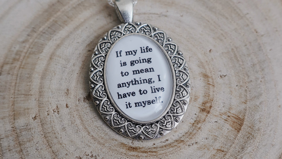 """If my life is to mean anything..."" Percy Jackson Book Quote Inspired Necklace"