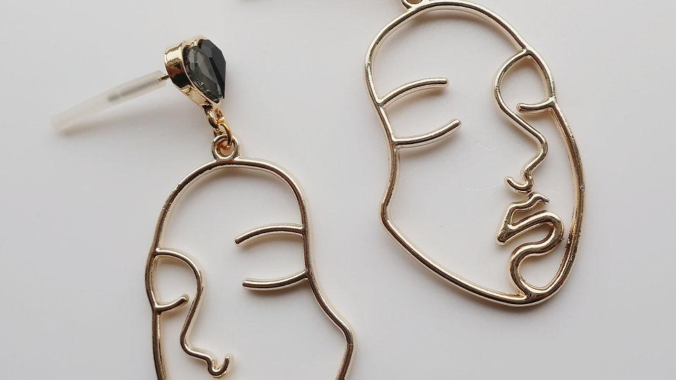 'The Warrior' Drop Earrings