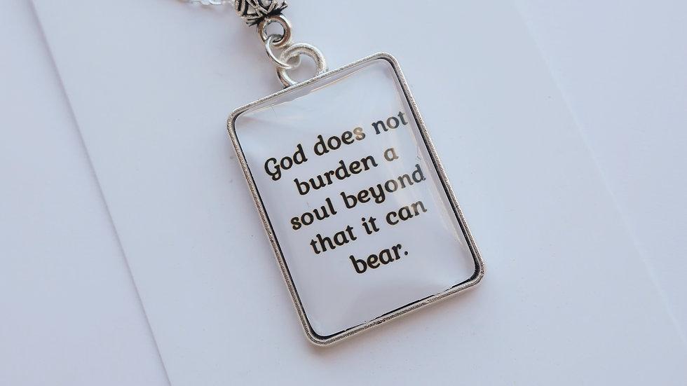 Eid Collection - 'God does not burden...' Pendant Necklace