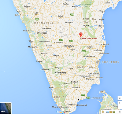 Location of Rishi Valley in India