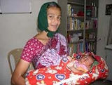 Mother with baby at Rishi Valley Health Center