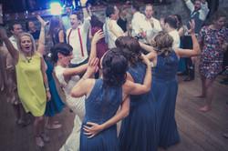 Bride & bridesmaids sing along