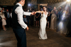 Newlyweds dance together