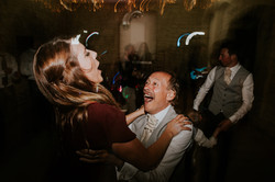 Wedding guests spin around to music