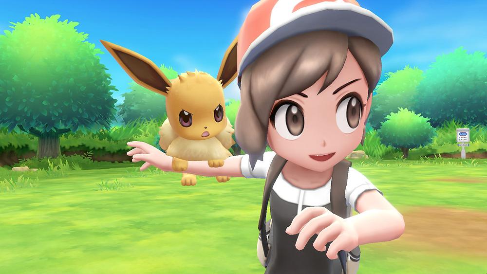 Girl Pokemon Trainer with Eevee