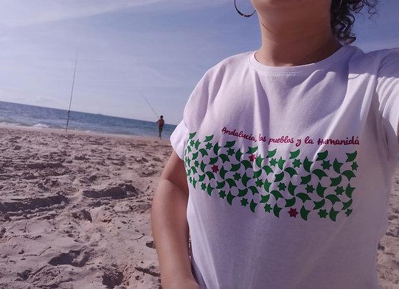Camiseta Andalucía, los pueblos y la humanidá