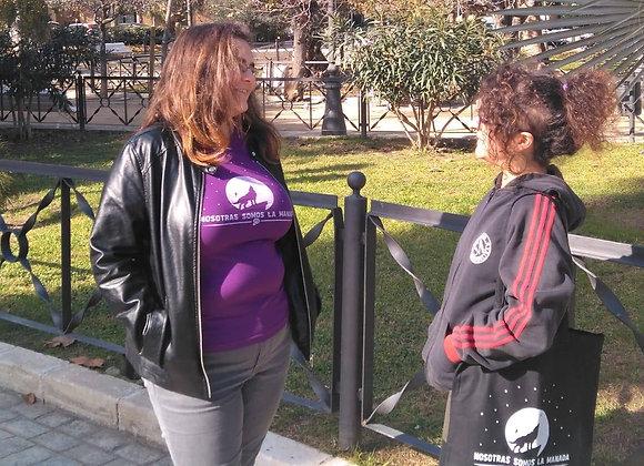 """Camiseta y bolso """"Nosotras somos la manada"""""""
