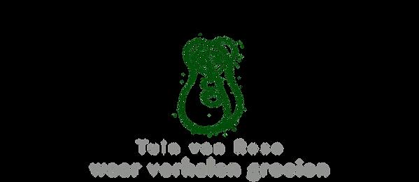 Logo Tuin van Rose met tekst - met lach