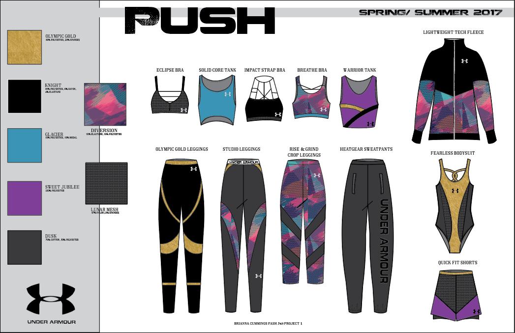 PUSH Activewear  - Technical Flats