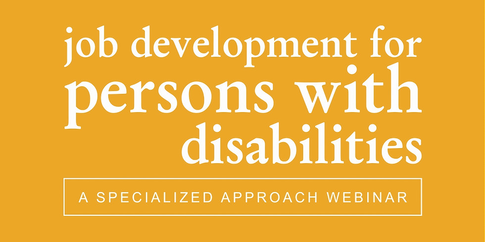 Job Development for Persons with Intellectual Disabilities (1)