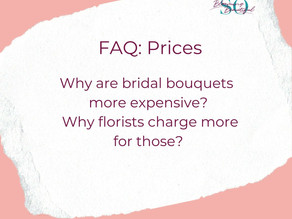 Why are bridal bouquets more expensive?