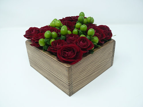 Red Roses Small Bento Box of Flowers