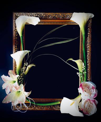 Calla lilies Fresh Flower Frame