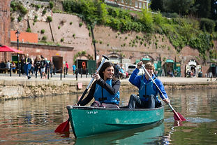 Canoeing on Exeter Quayside by Tony Cobl