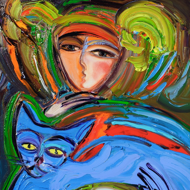 Blue Blue Cat