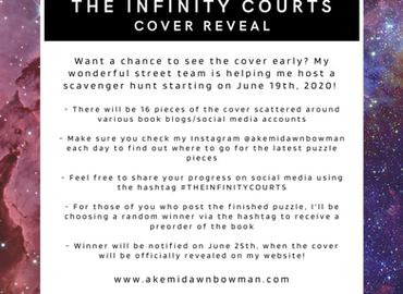 The Infinity Courts – Cover reveal Scavenger Hunt