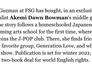 Book News - Generation Misfits is going to be published