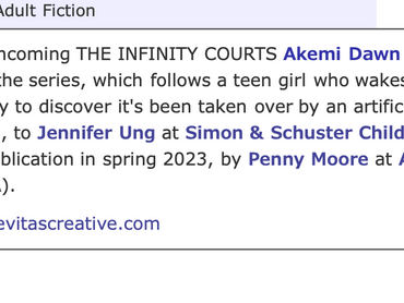 THE INFINITY COURTS is now a Trilogy