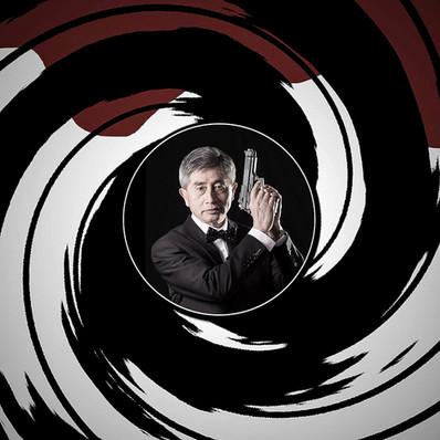 Fotomanipuliacija, fotomontažas, james bond 007 foto idėja