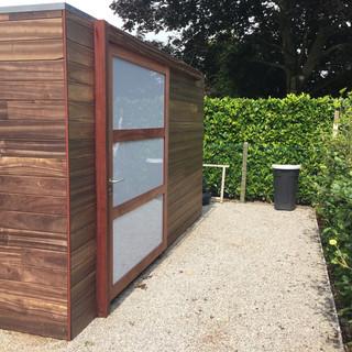 tuinhuis in padouk