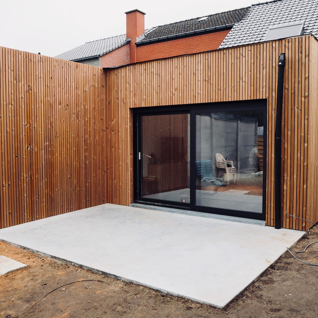 Gevelbekleding in thermowood