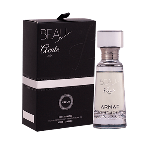 Armaf Beau Acute -Concentrated Luxury French Perfume Oil-0.68 Fl Oz For Men