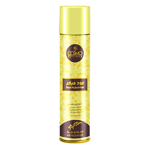 COSMO DESIGN AIR FRESHENER OUD MUBAKHAR 300 ML/10.1 OZ SPRAY