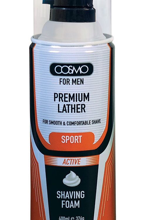 Cosmo Shaving Foam Sport Active 400ml/13.5 Fl.oz.
