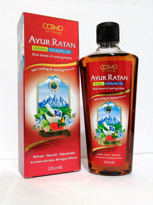Ayur Ratan Herbal Cooling Oil - Herbal 200ml/6.8 Fl.oz.